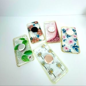 5 IPhone 6S Plus cell cases with popsockets!